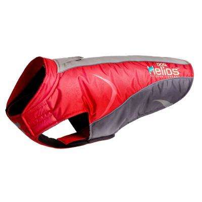 Helios Large Red Altitude-Mountaineer Wrap- Protective Waterproof Dog Coat with Blackshark Technology
