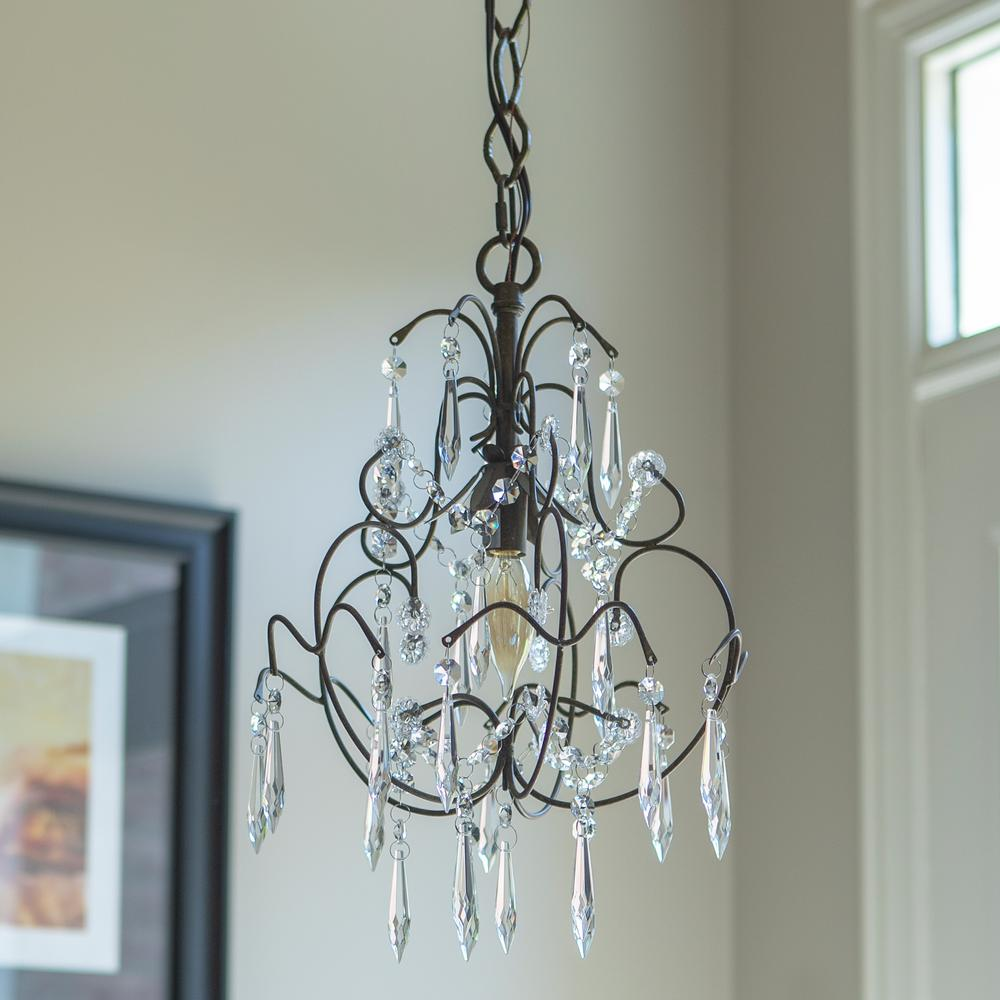 BELDI St-Louis 5-Lights Antique Brown Frame Chandelier with Clear ...