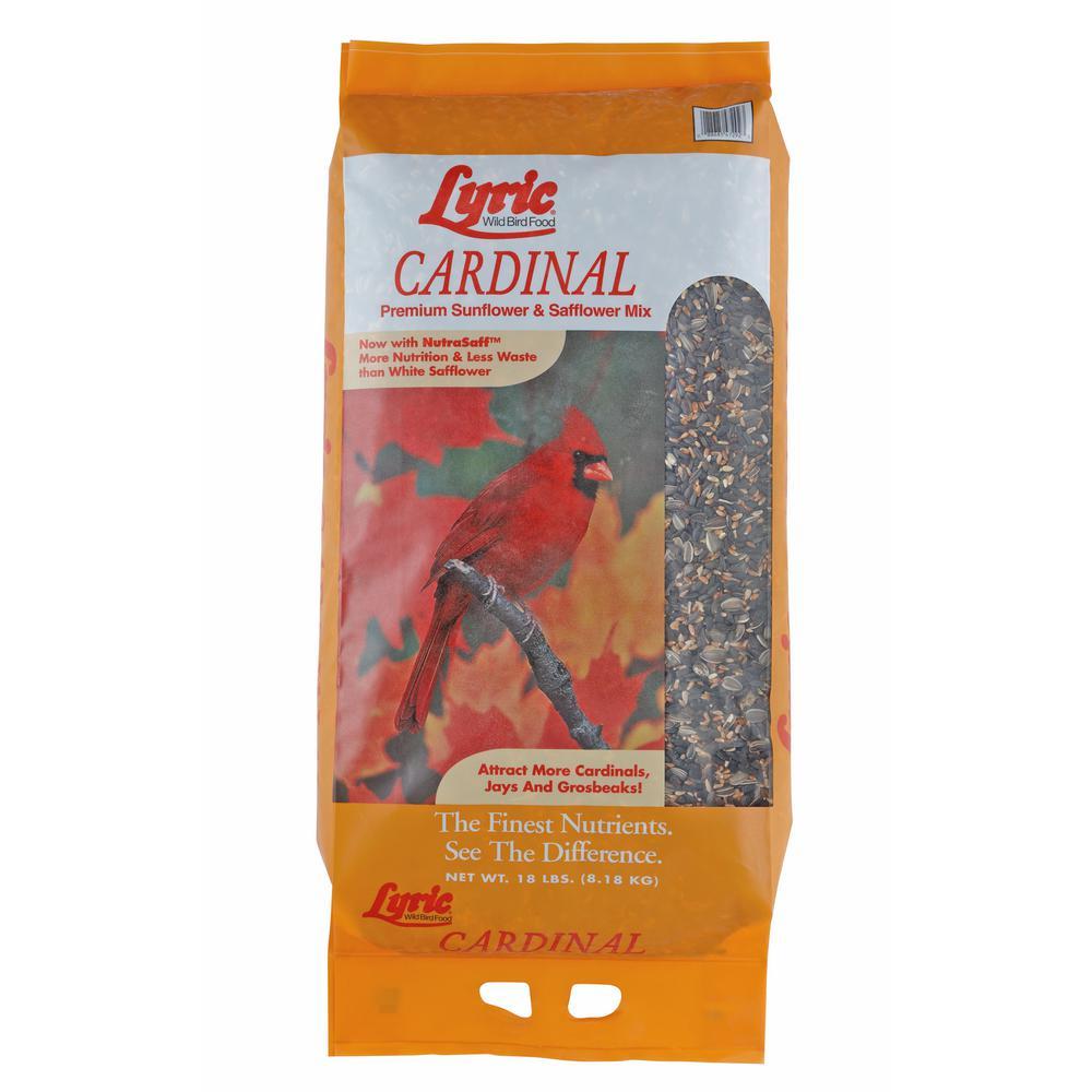 18 lbs. Cardinal Premium Sunflower and Safflower Wild Bird Mix