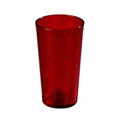 20 oz. SAN Plastic Stackable Tumbler in Ruby (Case of 72)