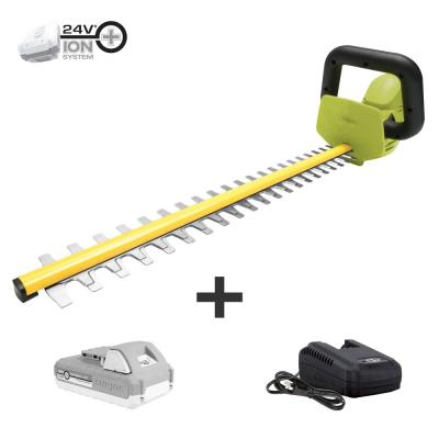 22 in. 24-Volt Lithium-Ion Cordless Hedge Trimmer Kit with 2.0 Ah Battery Plus Charger