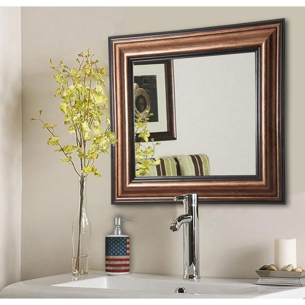25.5 in. x 25.5 in. Canyon Bronze Square Vanity Wall Mirror