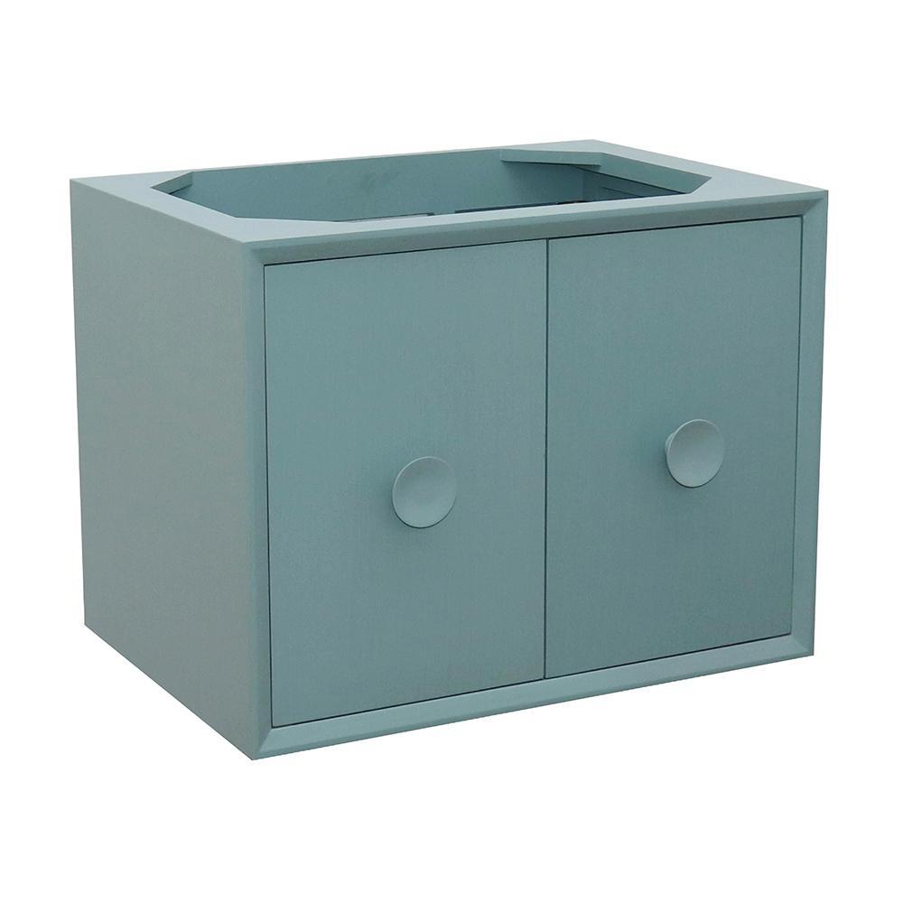 Stora 30 in. W x 21.5 in. D Wall Mount Bath Vanity Cabinet Only in Aqua Blue