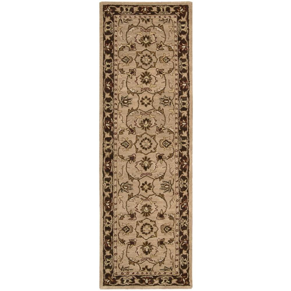 Nourison Overstock India House Taupe 2 ft. 3 in. x 7 ft. 6 in. Rug Runner