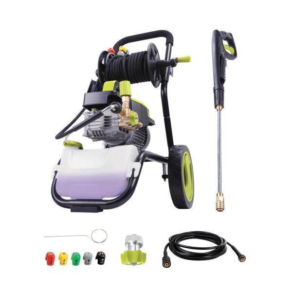 Commercial Series 1300 PSI Max 2 GPM Electric Pressure Washer with Wall Mount, Roll Cage and Hose Reel