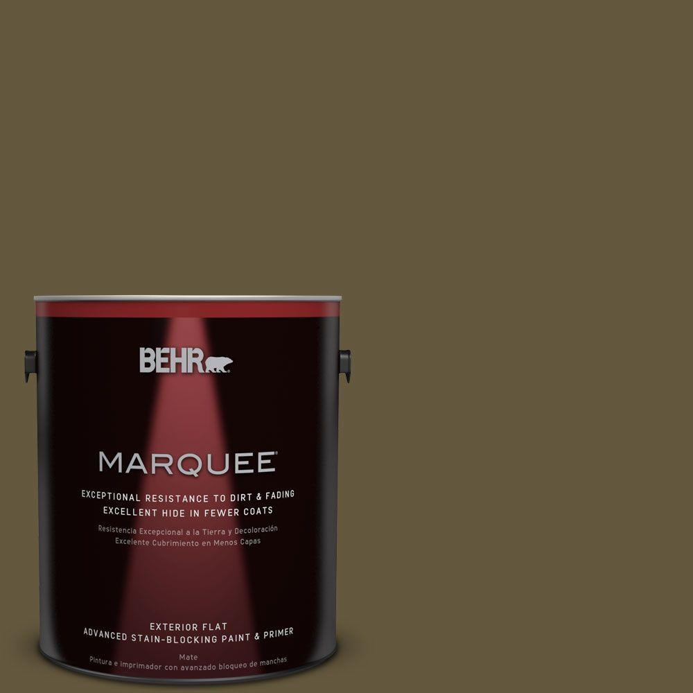 BEHR MARQUEE 1-gal. #PPU7-1 Moss Stone Flat Exterior Paint