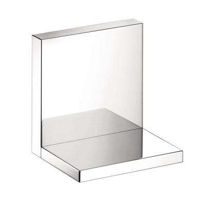 Axor Starck 4 in. L x 4.75 in. H x 4.75 in. W Wall-Mount Short Bathroom Shelf in Chrome