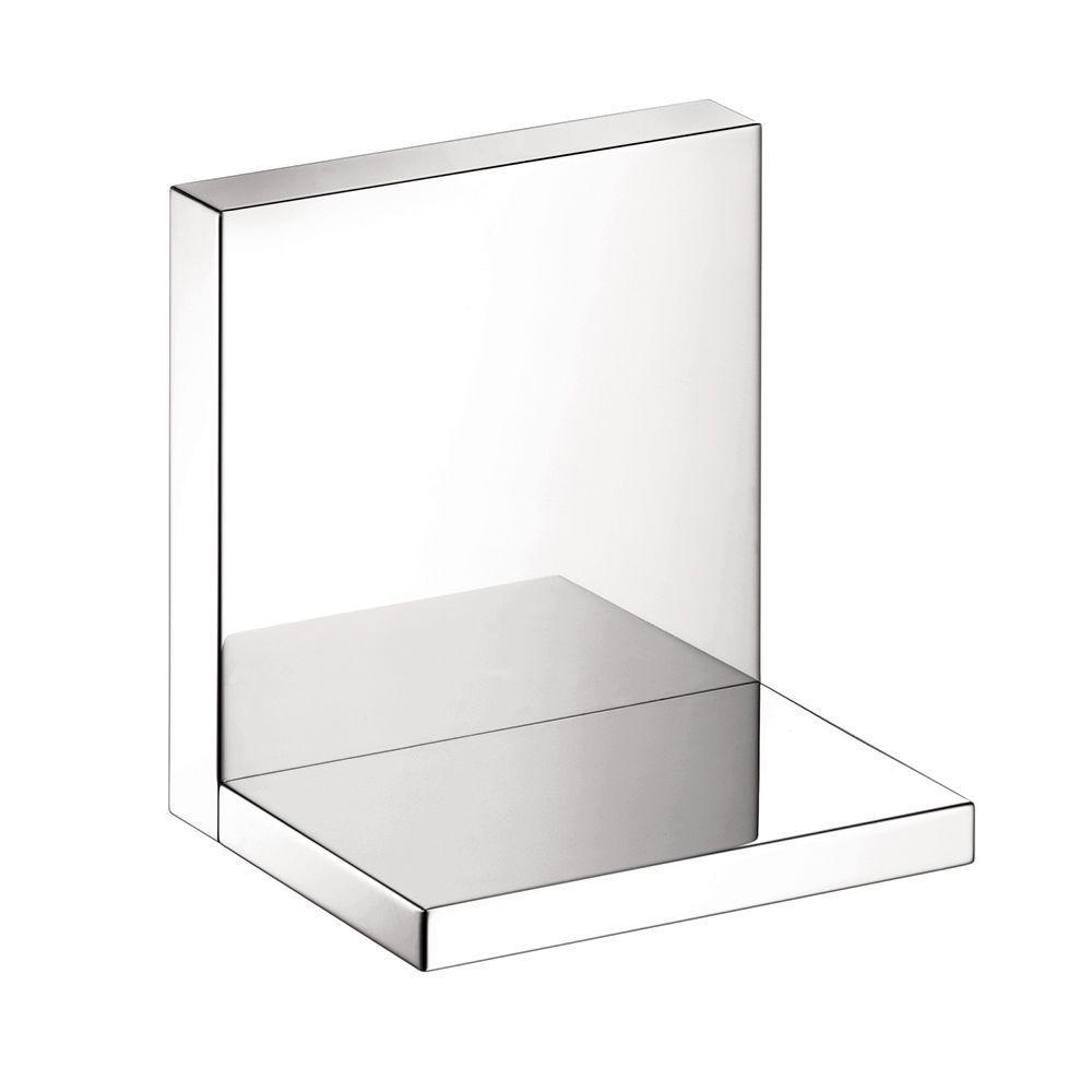 Axor Starck 4 in. L x 4.75 in. H x 4.75 in. W Wall-Mount Short Bathroom Shelf in Chrome