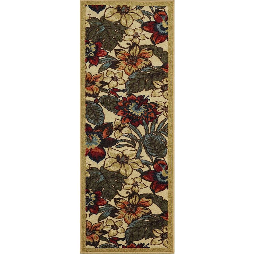 MAXY HOME Hamam Collection Multi 2 ft. x 7 ft. Runner Rug
