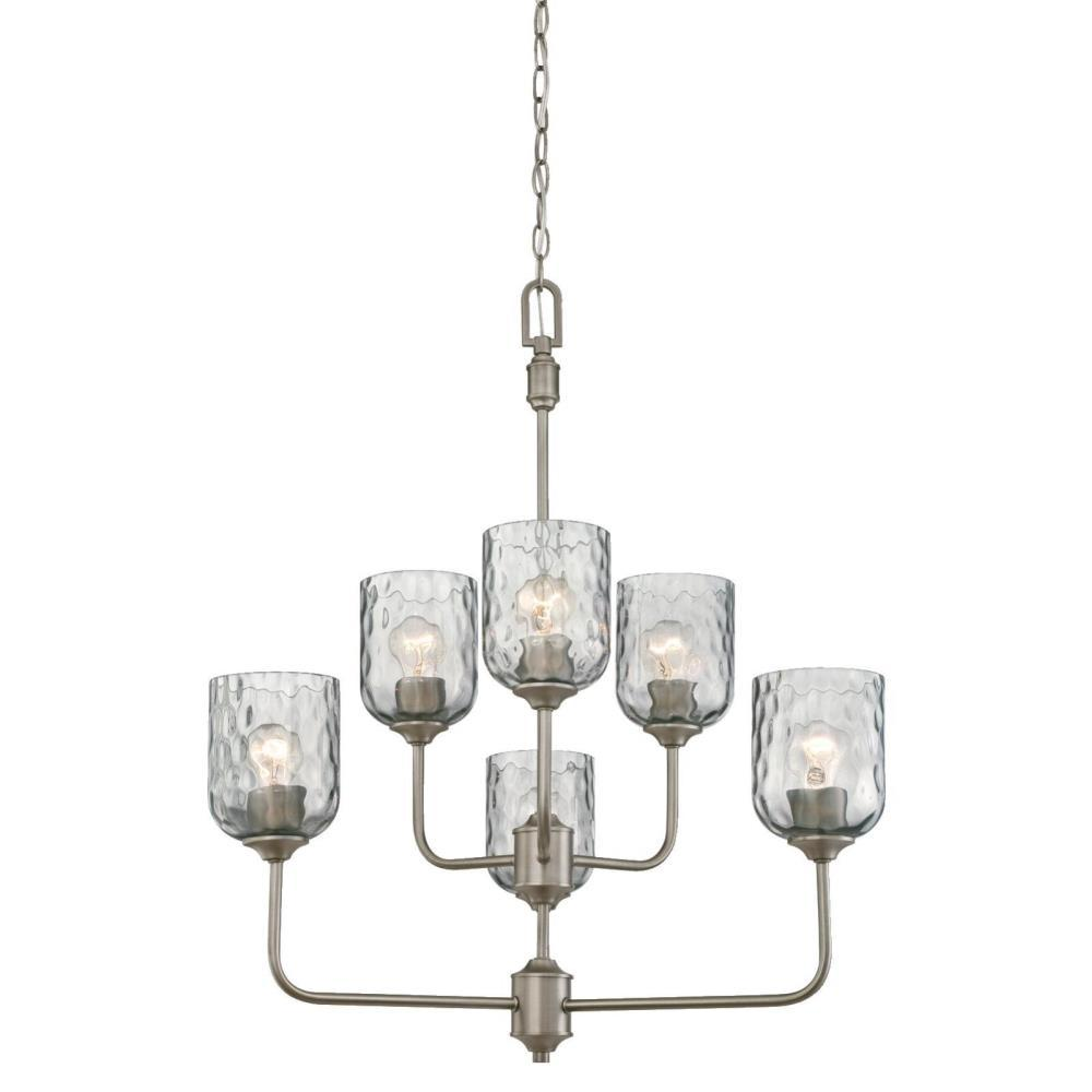 Hammered pewter light fixtures lighting designs westinghouse basset 6 light dark pewter chandelier with smoke grey arubaitofo Image collections
