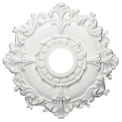 18 in. x 3-1/2 in. ID x 1-1/2 in. Riley Urethane Ceiling Medallion (Fits Canopies upto 4-5/8 in.)