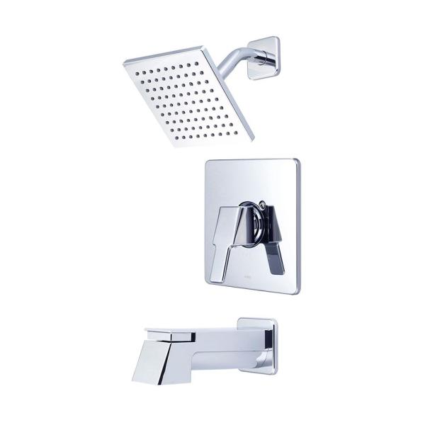 i3 1-Handle Wall Mount Tub and Shower Faucet Trim Kit in Chrome with Extended Tub Spout (Valve not Included)