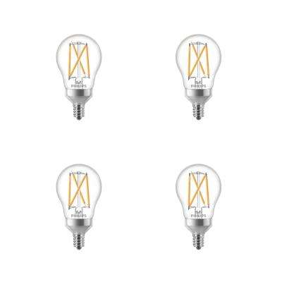 40-Watt Equivalent A15 Dimmable Candelabra Base LED Light Bulb in Soft White with Warm Glow Dimming Effect (8-Pack)