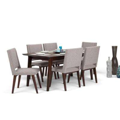 Draper Mid Century 7 Piece Grey Dining Set