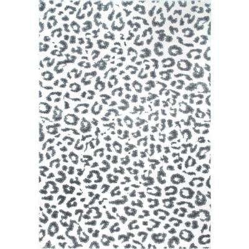 Leopard Print Grey 4 Ft X 6 Area Rug