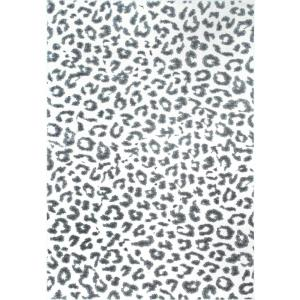 Nuloom Leopard Print Grey 8 Ft X 10 Ft Area Rug Rzbd61a