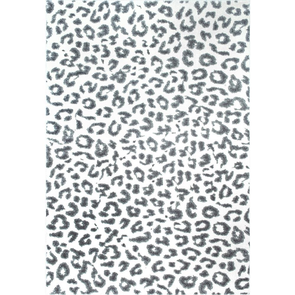 Nuloom Leopard Print Grey 4 Ft X 6 Ft Area Rug Rzbd61a