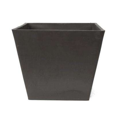 Simplicity Square 12 in. x 10 in. Dark Charcoal PSW Pot