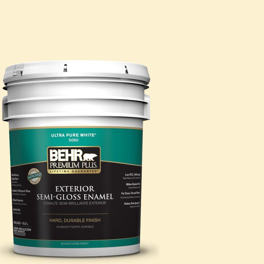 5-gal. #P280-1 Summer Bliss Semi-Gloss Enamel Exterior Paint