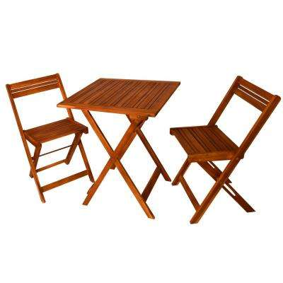 Oasis Natural Acacia 3-Piece Wood Outdoor Bistro Set