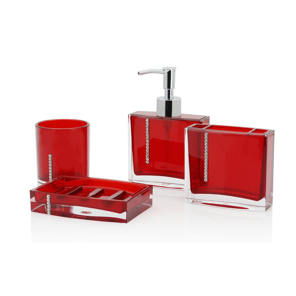 Cristal 4-Piece Bathroom Accessory Set