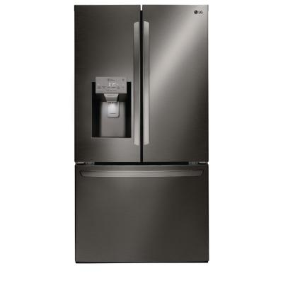 26.2 cu. ft. French Door Smart Refrigerator with Wi-Fi Enabled in Black Stainless Steel