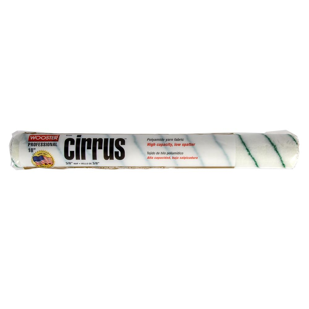 18 in. x 3/8 in. Cirrus Polyamide High-Density Knit Roller Cover