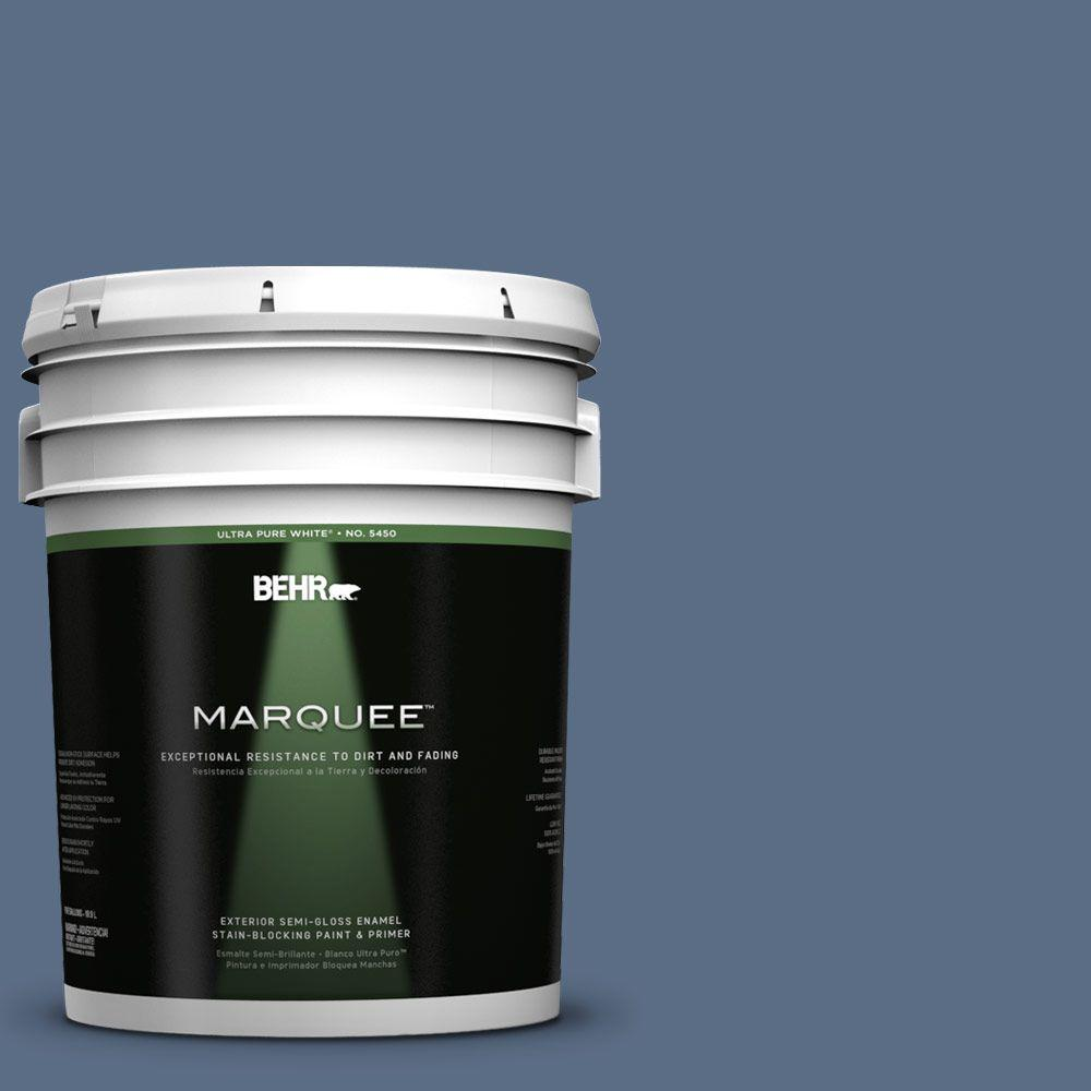 BEHR MARQUEE 5-gal. #UL240-20 Sausalito Port Semi-Gloss Enamel Exterior Paint