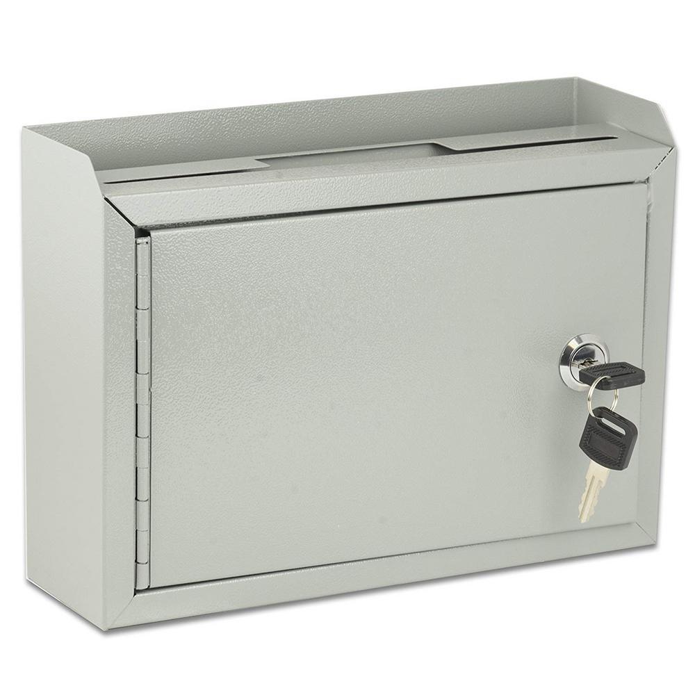 Medium Size Grey Steel Multi-Purpose Suggestion Drop Box