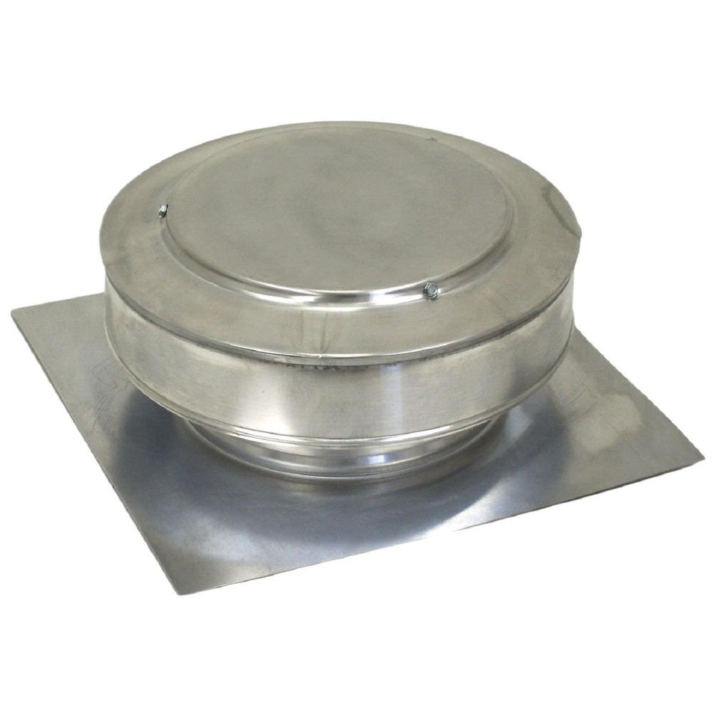 Active Ventilation 13 in. x 5 in. Aluminum 8 in. Dia. Low Profile 50 sq. in. NFA Roof Vent in Mill Finish