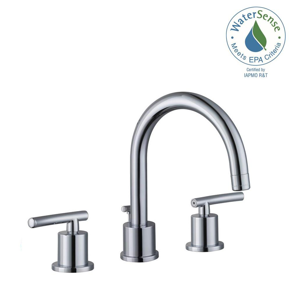 Glacier Bay Dorset 8 in. Widespread 2-Handle Bathroom Faucet in ...