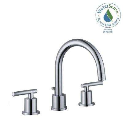 Dorset 8 in. Widespread 2-Handle Bathroom Faucet in Chrome