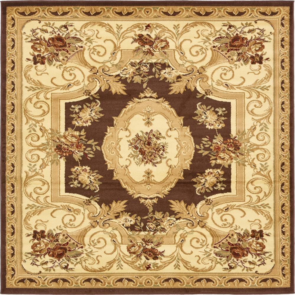 Traditional Versailles Brown 6 ft. x 6 ft. Area Rug