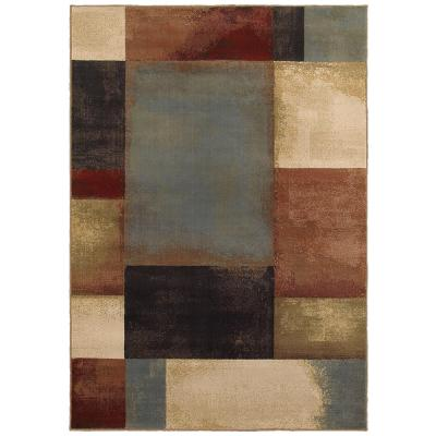 Hayley Multi 8 ft. x 10 ft.  Geometric Area Rug