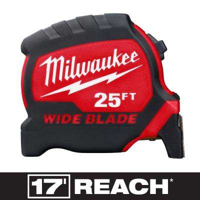 25 ft. x 1.3 in. Wide Blade Tape Measure with 17 ft. Reach