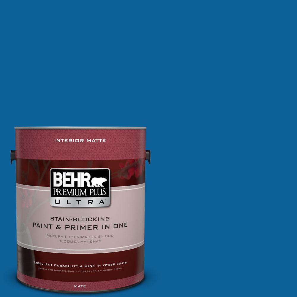 1 gal. #570B-7 Cobalt Glaze Flat/Matte Interior Paint