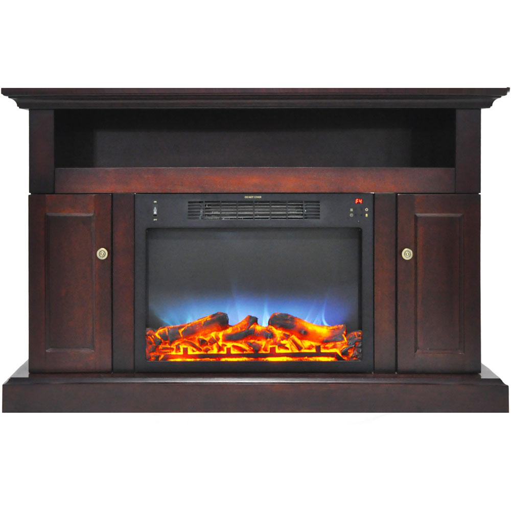 Sorrento Electric Fireplace with Multi-Color LED insert and 47 in. Entertainment