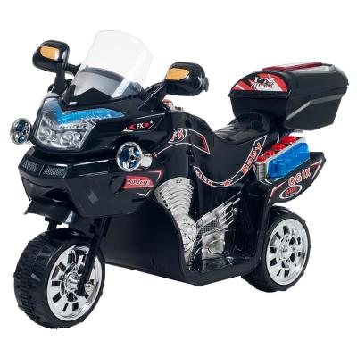 3-Wheel Battery Powered Motorcycle Ride on Toy in Black