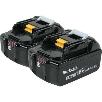 18-Volt LXT Lithium-Ion High Capacity Battery Pack 5.0Ah with LED Charge Level Indicator (2-Pack)