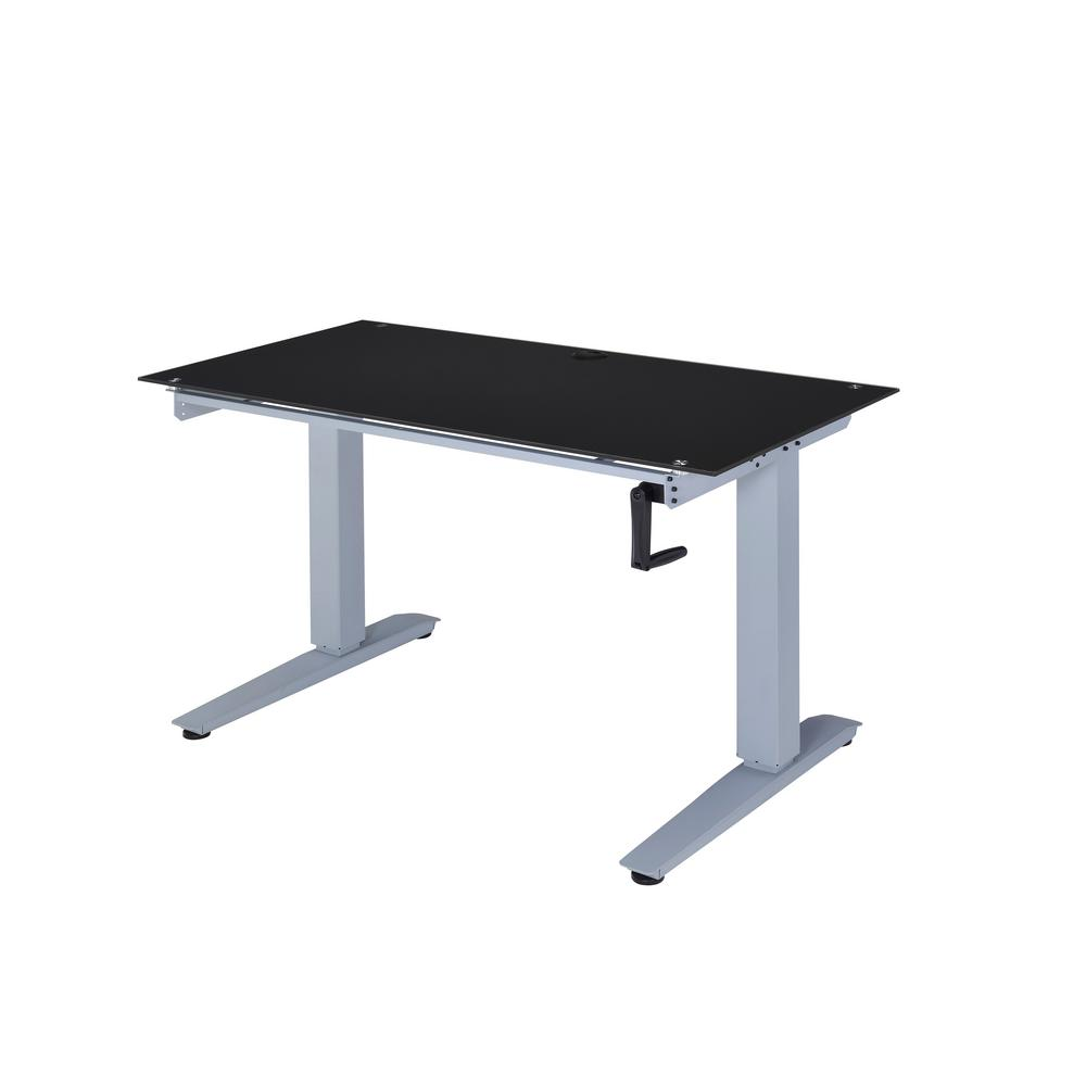 Acme Furniture Black Glass Bliss Lift Writing Desk 92386
