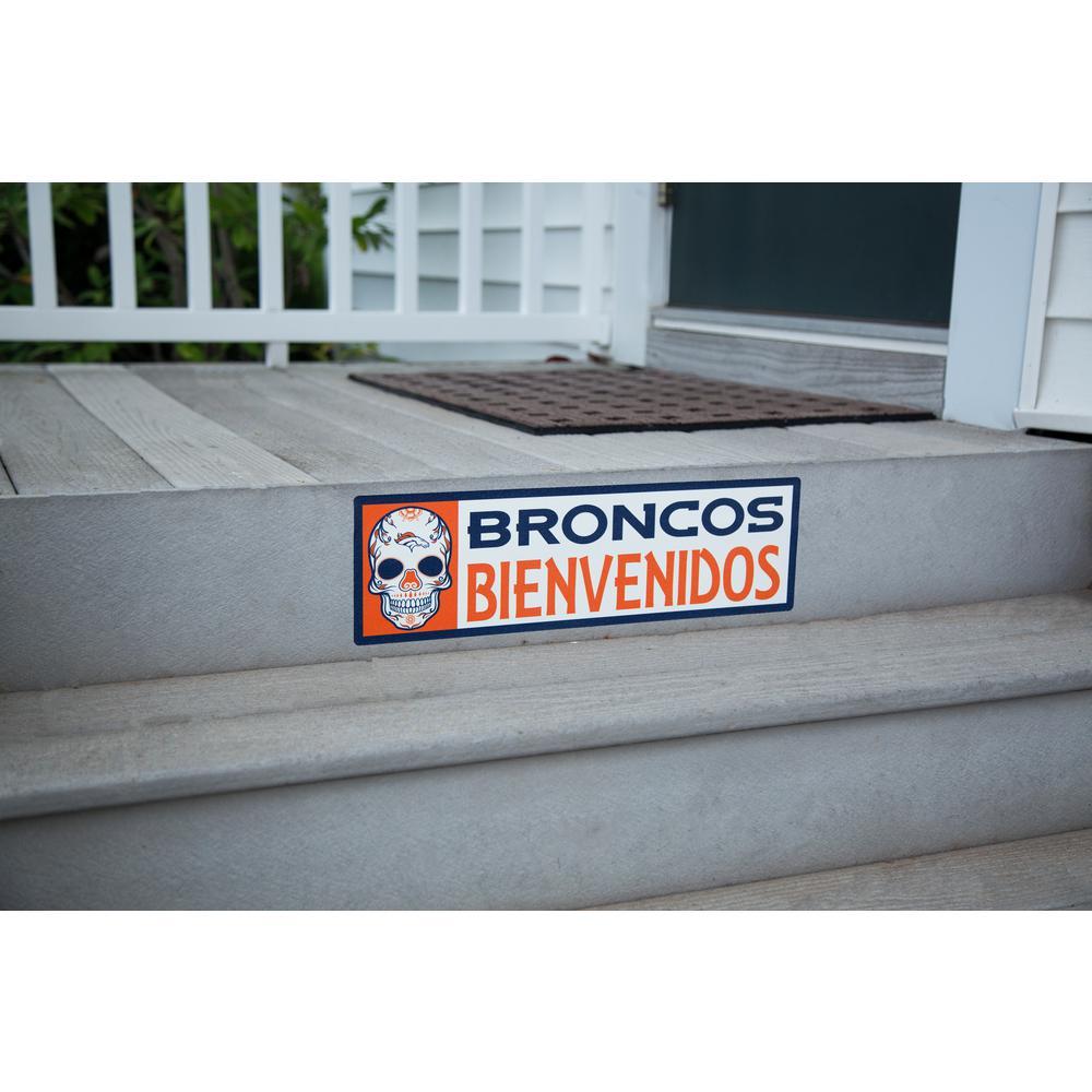 NFL Denver Broncos Bienvenidos Step Graphic