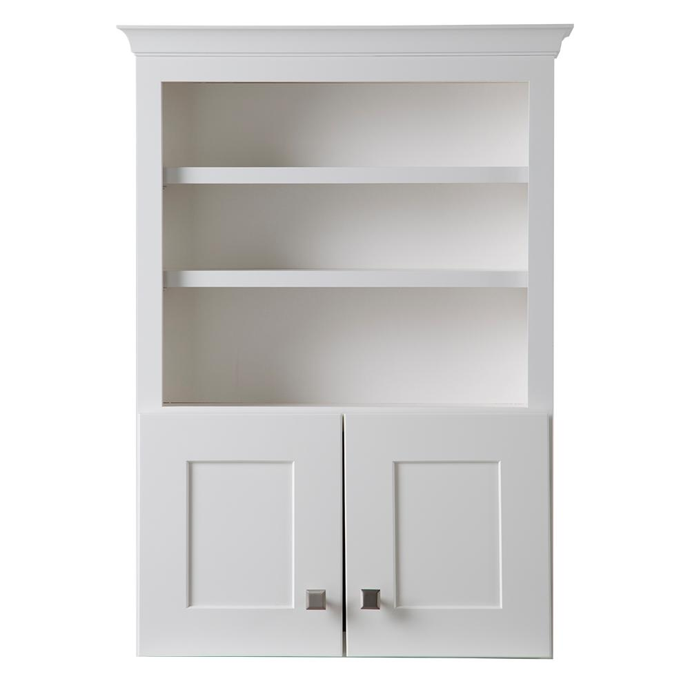 Bathroom storage wall cabinet - Home Decorators Collection Creeley 27 In W X 37 7 10 In H X 9 In D Bathroom Storage Wall Cabinet In Classic White 19evtt25 The Home Depot