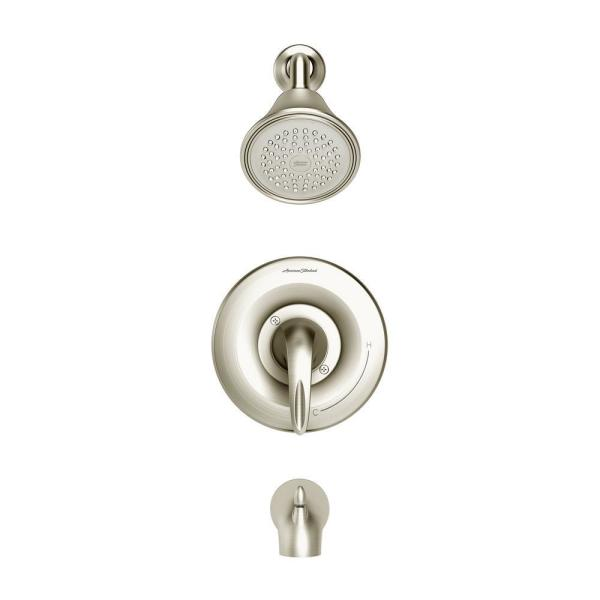 Reliant 3 1-Handle Tub and Shower Faucet Trim Kit for Flash Rough-In Valves in Brushed Nickel (Valve Not Included)