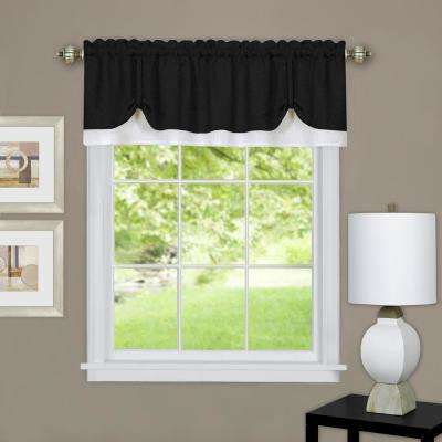 Darcy 14 in. L Polyester Valance in Black/White