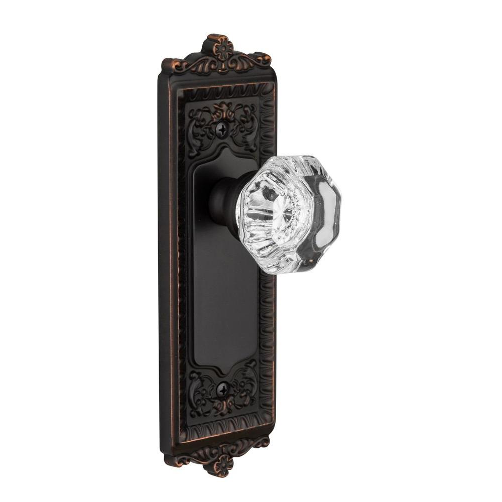 Grandeur Windsor Timeless Bronze Plate with Privacy Chambord Crystal Knob