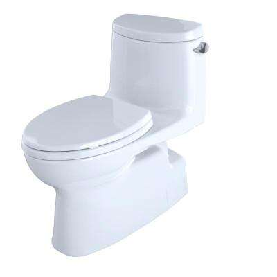 Carlyle II 1-Piece 1.28 GPF Single Flush Elongated Skirted Toilet with Right-Hand Lever and CeFiONtect in Cotton White
