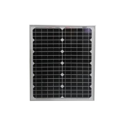 20-Watt Monocrystalline Solar Panel for 12-Volt Battery Charging