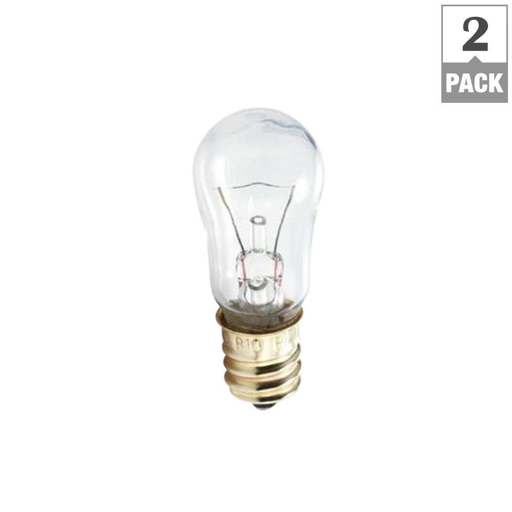 6-Watt 12-Volt Incandescent S6 Candelabra Base Indicator Light Bulb (2-Pack)