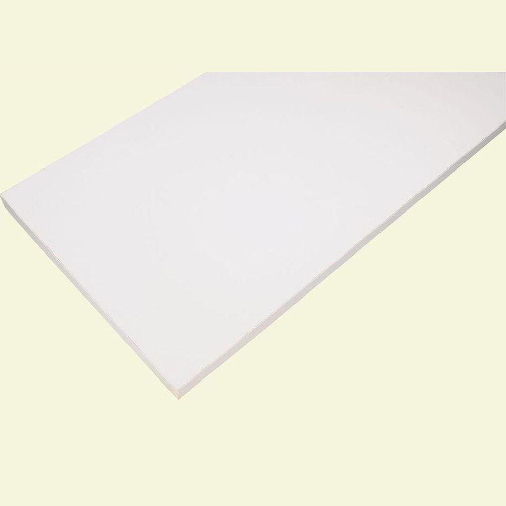 10 in. x 36 in. White Laminate Decorative Shelf
