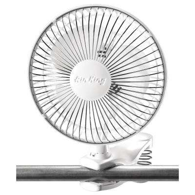 6 in. Clip on 2-Speed Commercial Grade Desk Fan with Adjustable Head